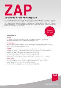 ZAP - aktuelle Ausgabe