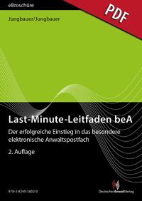 Cover Last-Minute-Leitfaden beA