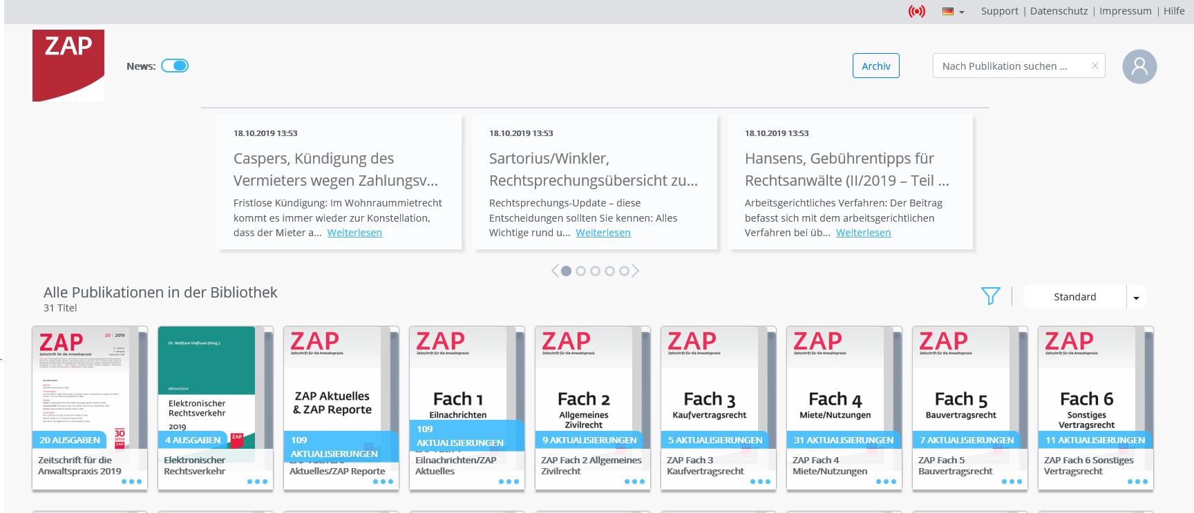 Häufige Fragen zur ZAP App - ZAP: juristische News